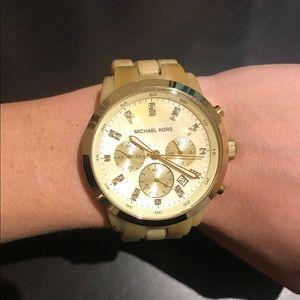 Michael Kors Beige Tortoise Watch